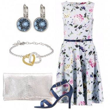 Outfit Blu e argento