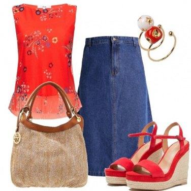 Outfit Rosso che passione