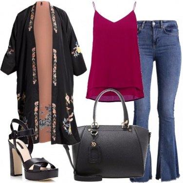 Outfit Il kimono reversibile