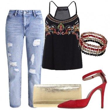 Outfit Mix di stili per la sera