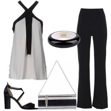 Outfit Sera in bianco e nero