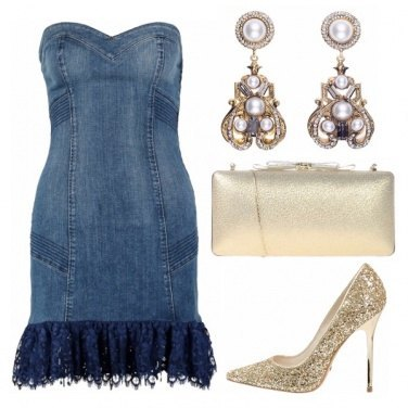 Outfit Serata in denim e oro!