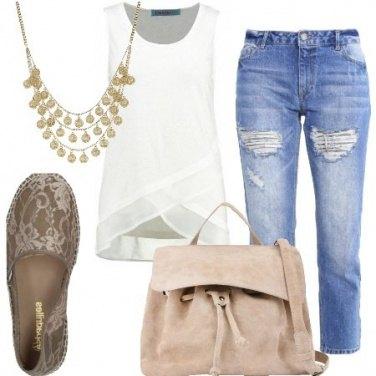 Outfit Espadrillas e jeans