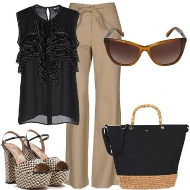 Outfit Bicolore chic