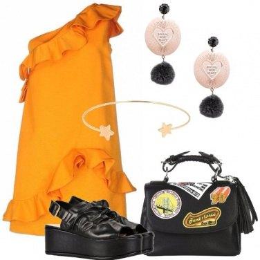 Outfit Abito monospalla