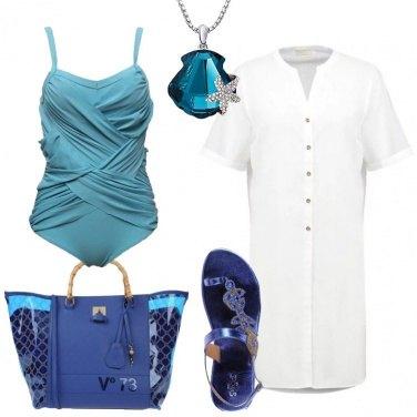 Outfit Elegante sul bagnasciuga