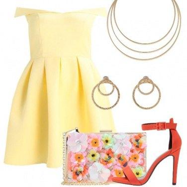 Outfit Colorata alla cerimonia