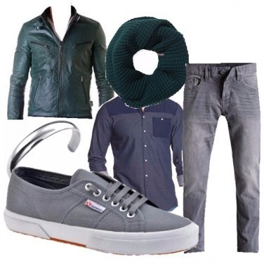 Outfit Grey & Green