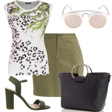 Outfit Il top animalier