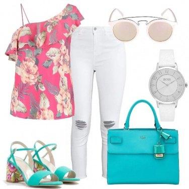Outfit La camicetta floreale