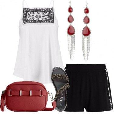 Outfit Comoda con gli shorts