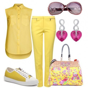 Outfit Pazza per il giallo