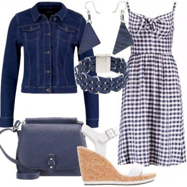 Outfit Abito a scacchi