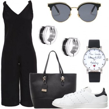 Outfit Jumpsuit e sneakers