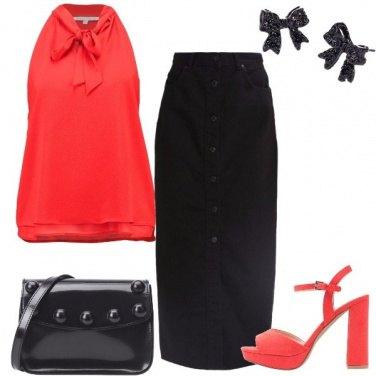 Outfit La camicetta con il fiocco