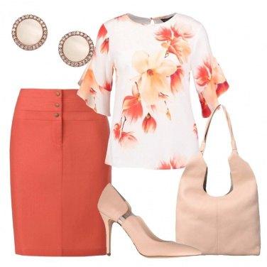 Outfit Arancio e nude