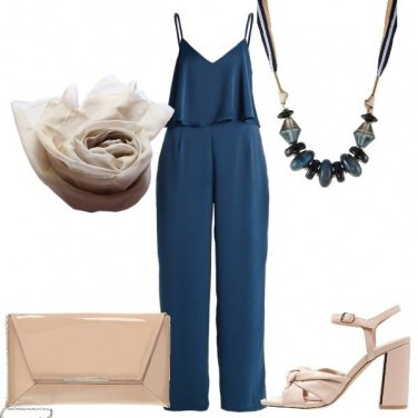 Outfit Tuta e maxi collana