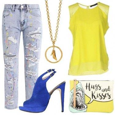 Outfit Creativa con i tacchi