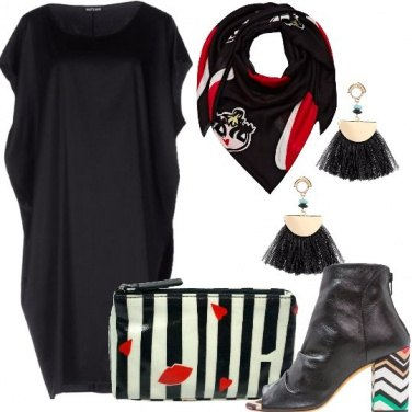 Outfit Nero e fantasie pop