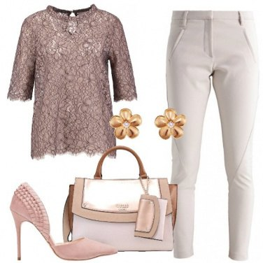 Outfit Camicetta in merletto