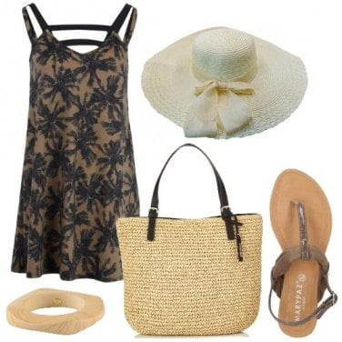 Outfit Fashion in spiaggia