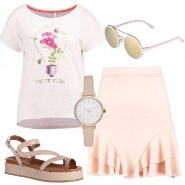 Outfit Lampadina e fiori