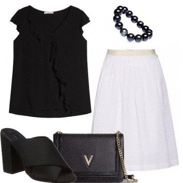 Outfit Classici bianco e nero