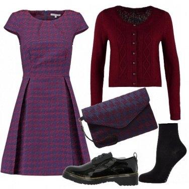 Outfit Pied de poule blue & red