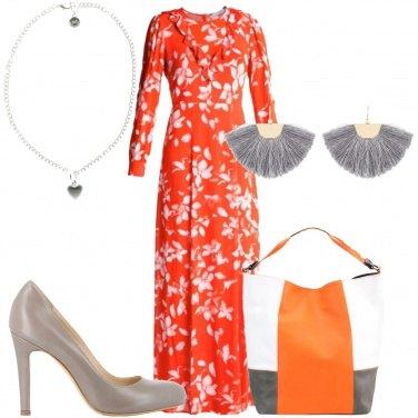 Outfit Borsa con la fascia arancione