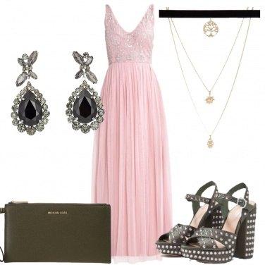 Outfit Rosa e khaki