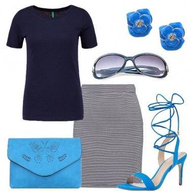 Outfit I toni del blu