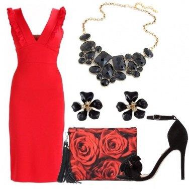 Outfit Il vestito rosso