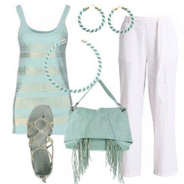 Outfit Capi verde chiaro