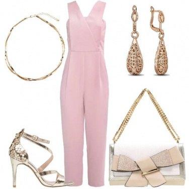 Outfit La tuta rosa