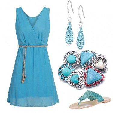 Outfit Una ragazza turchese