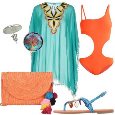 Outfit In spiaggia con i colori del tramonto