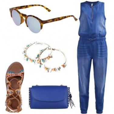 Outfit Jumpsuit ed accessori boho