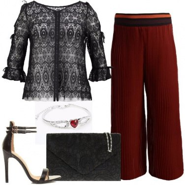 Outfit Pizzo e cuori