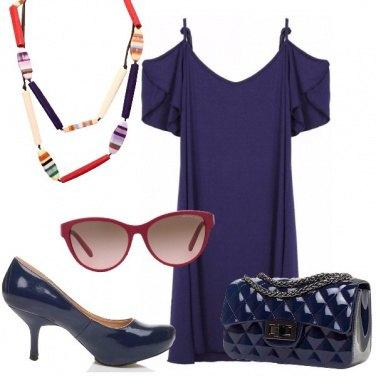 Outfit Di vernice blu