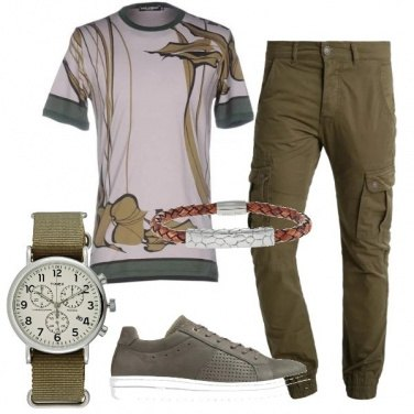 Outfit La tshirt griffata