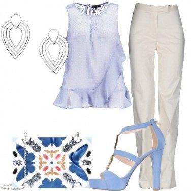 Outfit Cerimonia in azzurro