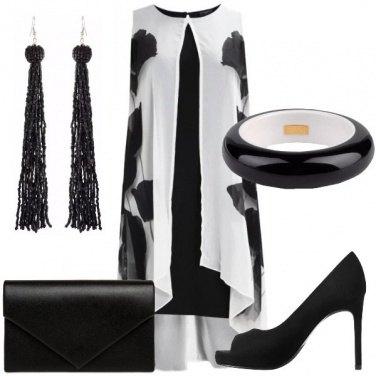 Outfit Cerimonia in bianco e nero