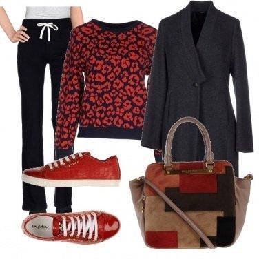 Outfit Toni di rosso
