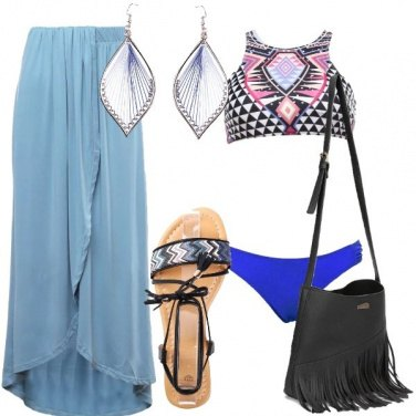 Outfit Etnica in spiaggia