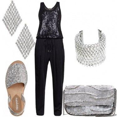 Outfit Paillettes argento