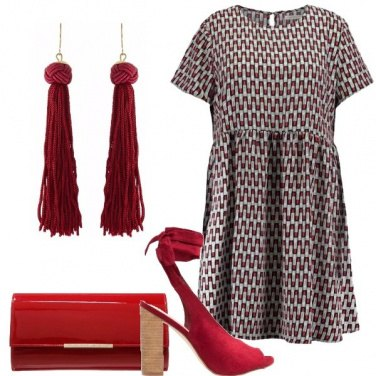 Outfit Rossetto rosso
