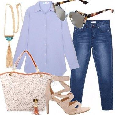Outfit Camicia lunga e jeans
