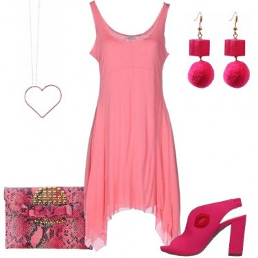Outfit L\'abito rosa
