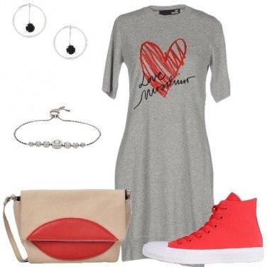 Outfit Cuori e labbra rosse