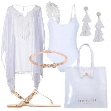 Outfit Bianco per la spiaggia